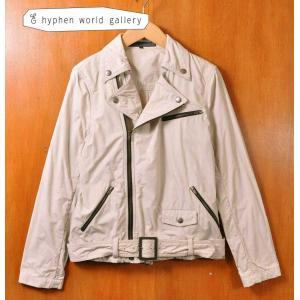 E hyphen world gallery イー ハイフン コットン ダブルライダースジャケット レディースM相当|penguintripper