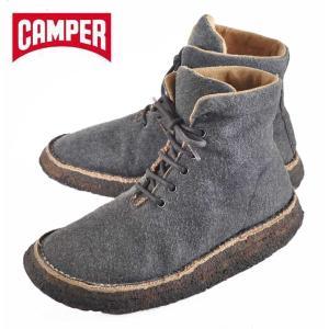 【SALE】CAMPER カンペール / ブラザー系 フレアクレープソールブーツ / グレー フェルト / EUR37 JPN23.5cm penguintripper