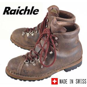 【SALE】ヴィンテージ 70年代頃 スイス製  ライケル アウトドア マウンテンブーツ ダークブラウン JPN28.0cm(5466|penguintripper