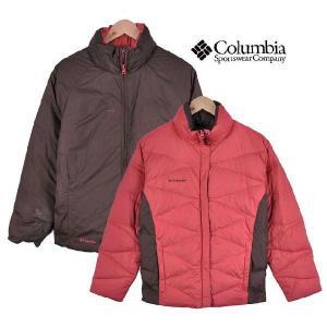 【SALE】Columbia コロンビア / リバーシブル ダウンジャケット / コーラルピンク×ブラウン / レディースM|penguintripper