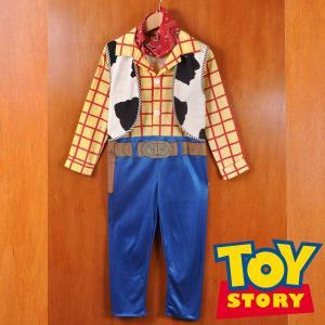 訳あり ヴィンテージ 90年代 DISNEY ディズニー TOYSTORY トイストーリー キッズ用 ウッディ つなぎ型コスプレ衣装 ハロウィン 仮装 オールインワン キッズ 8 10|penguintripper