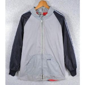 【SALE】ヴィンテージ 1980年代 / adidas アディダス / ナイロンスキージャケット / グレー×ブラック / メンズS相当 penguintripper