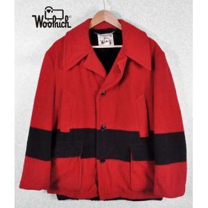 【SALE】ヴィンテージ 1970年代 / WOOLRICH ウールリッチ / ウールコート / レッド / 42 メンズL相当 penguintripper