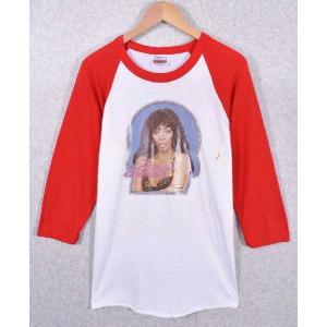 【SALE】ヴィンテージ 1979年製 / Donna Summer ドナ・サマー / BIG DADDY RAT'S T SHIRT CORNER / ラグランTシャツ / ホワイト×レッド / メンズM penguintripper