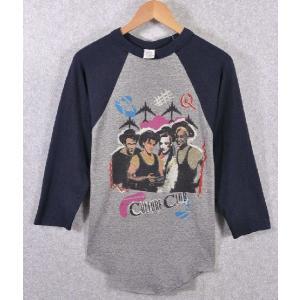 【SALE】ヴィンテージ 1980年代 / CULTURE CLUB カルチャークラブ / ラグランバンドTシャツ / グレー×ネイビー / メンズS相当 penguintripper