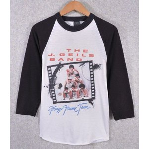 【SALE】ヴィンテージ 1981年製 / THE J. GEILS BAND J・ガイルズ・バンド / Freeze Frame Tour / ラグランバンドTシャツ / ホワイト×ブラック / メンズS相当 penguintripper