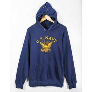 【SALE】ヴィンテージ 1980年代 USA製 / ARTEX / U.S.NAVY スウェットパーカ / ネイビー / メンズM相当|penguintripper