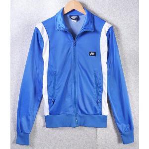【SALE】ヴィンテージ 1980年代 日本製 / NIKE ナイキ / 紺タグ ジャージ / ブルー×ホワイト / メンズS|penguintripper