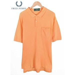 英国製 / FRED PERRY フレッドペリー  / 胸ポケット ポロシャツ / ライトオレンジ / メンズL相当|penguintripper