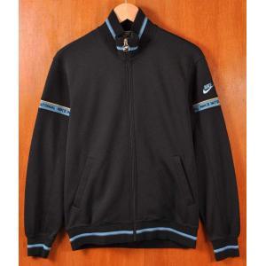 ヴィンテージ 1980年代後半 日本製 NIKE ナイキ ジャージ ブラック×ブルー メンズS|penguintripper