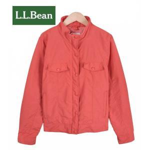 【SALE】L.L.Bean エル・エル・ビーン  / ショートジャケットスタイル  ナイロンアウトドアジャケット / サーモンオレンジ / レディースL相当|penguintripper
