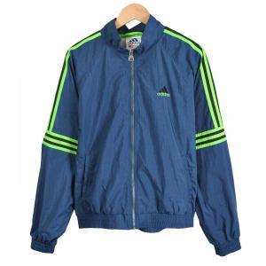 ヴィンテージ 1990年代 / adidas アディダス / ナイロンジャケット / ネイビー×蛍光グリーン / メンズM penguintripper
