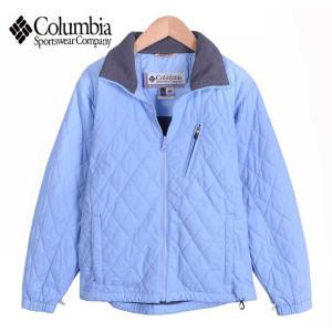 【SALE】Columbia コロンビア / キルティングジャケット 中綿ナイロンジャケット / 水色 / レディースS相当 penguintripper