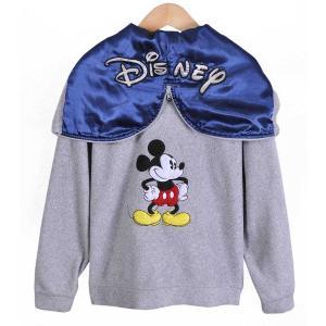 DISNEY ディズニー / ミッキーマウス / カデットフード フルジップ フリースパーカ / グレー / レディースS|penguintripper