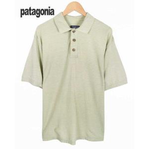 ヴィンテージ 1997年製(SP97) / patagonia パタゴニア / オーガニックコットン ポロシャツ / ライトグリーンベージュ / メンズL相当|penguintripper