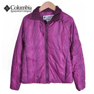 【SALE】Columbia コロンビア / TITANIUM タイタニウム / 中綿ナイロンジャケット / パープル チェック柄 / レディースS penguintripper