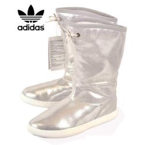 展示試着品 2013年製 adidas アディダス M ATTD WINTER HI W M アティチュード ウインター ハイ ウィメンズ 内ボア ウインターブーツモデル シルバー レザー|penguintripper