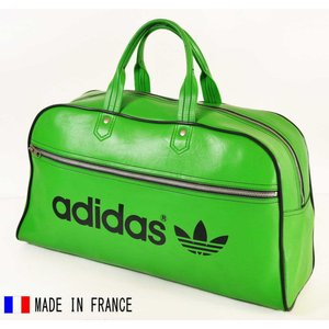 ヴィンテージ 1970年代 フランス製 adidas アディダス スポーツ ボストンバッグ グリーン(14805|penguintripper