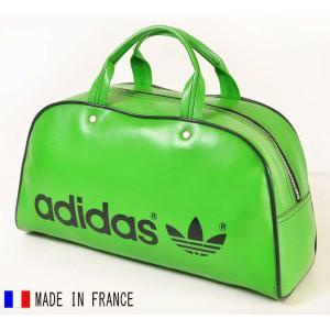 ヴィンテージ 1970年代 フランス製 adidas アディダス スポーツ ボストンバッグ グリーン(14806|penguintripper