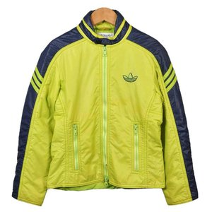 1980年代 adidas アディダス スキージャケット ナイロンジャケット ライムグリーン×ネイビー レディースXS相当 penguintripper