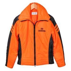 ヴィンテージ 1980年代 adidas アディダス スキージャケット ナイロンジャケット オレンジ×ブラック レディースS相当 penguintripper