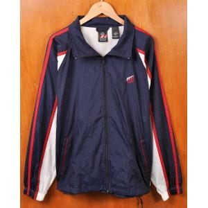 ヴィンテージ 1990年代 J.C.PENNEY JCペニー オリンピックロゴ ナイロンジャケット ネイビー×ホワイト×レッド メンズL相当 penguintripper