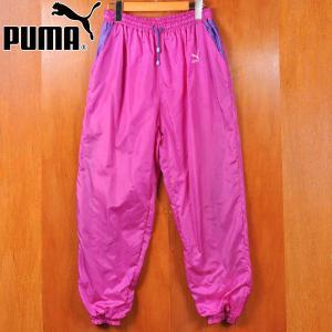 ヴィンテージ PUMA プーマ ナイロンパンツ マゼンタ XLサイズ|penguintripper