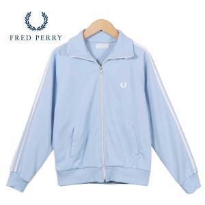 ポルトガル製 FRED PERRY フレッドペリー ジャージ ベビーブルー×ホワイト レディースS相当 penguintripper