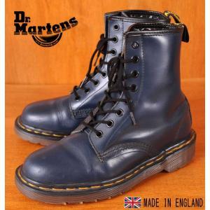 イングランド製 ヴィンテージ Dr.martens ドクターマーチン 8ホールブーツ ネイビー レザー UK3.5 JPN22.5cm|penguintripper