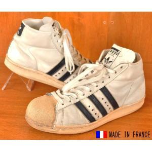 ヴィンテージ 1980年代 フランス製 adidas アディダス PROMODEL プロモデル ミッ...