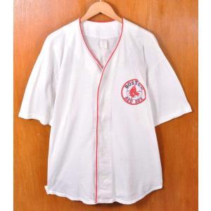 ビッグサイズ MLB Boston Red Sox ボストン・レッドソックス ベースボールシャツ ナンバリング ユニフォーム ホワイト penguintripper