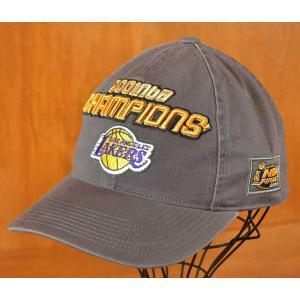 2001年 NBA ロサンゼルス レイカーズ ファイナル チャンピオン ベースボールキャップ グレー|penguintripper