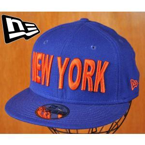 newera ニューエラ ニューヨーク シティ フィッティドキャップ  ブルー×オレンジ サイズ7-1/2 59.6cm|penguintripper