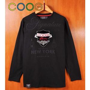 COOGI クージー 長袖Tシャツ ロンT ブラック エンブレム メンズM(18106|penguintripper