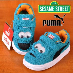 PUMA×SESAME STREET プーマ×セサミストリート BASKET SESAME STR STATEMENT CM クッキーモンスター アトミックブルー|penguintripper