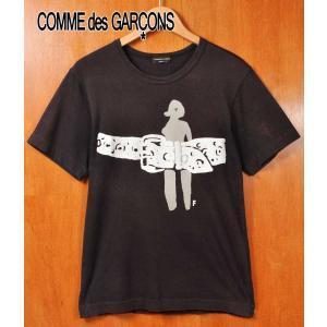 コム・デ・ギャルソン オム プリュス 半袖Tシャツ ブラック メンズS相当(18720|penguintripper