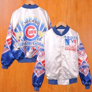 ビッグサイズ ヴィンテージ Chalk Line MLB シカゴ・カブス ナイロンスタジャン メンズXL penguintripper