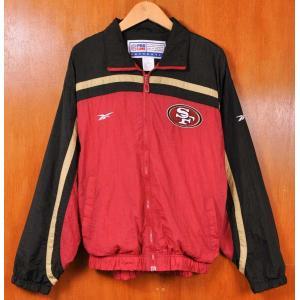 ヴィンテージ 1990年代 Reebok リーボック NFL サンフランシスコ 49ers ナイロンジャケット メンズL|penguintripper