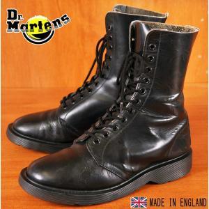 イングランド製 ヴィンテージ ホワイト社製 Dr.martens ドクターマーチン 11ホールブーツ ブラック UK4 23.0cm|penguintripper