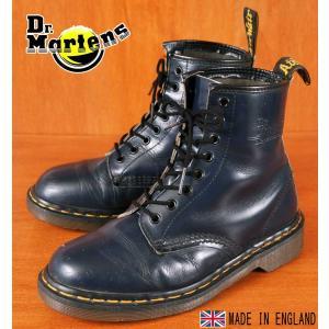 イングランド製 ヴィンテージ Dr.martens ドクターマーチン 8ホールブーツ ネイビー レザー UK6 25.0cm|penguintripper