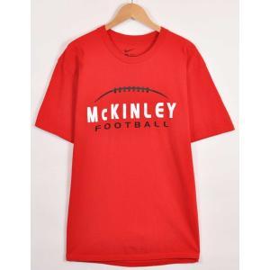 NIKE ナイキ カレッジ系 半袖Tシャツ レッド フットボールモチーフ メンズL(21260|penguintripper