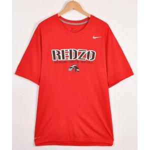 ビッグTシャツ NIKE ナイキ DRI-FIT ベルモント・アビー大学 カレッジ系 半袖Tシャツ レッド メンズXL(21266|penguintripper
