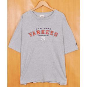 ビッグTシャツ adidas アディダス MLB ニューヨーク・ヤンキース 半袖Tシャツ メンズ2XL相当(21333|penguintripper