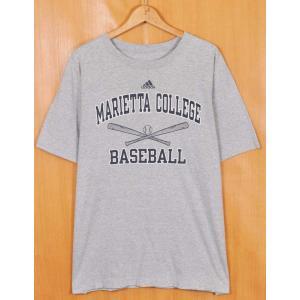 ビッグTシャツ adidas アディダス マリエッタ大学 カレッジ系 半袖Tシャツ ベースボールモチーフ メンズXL(21334|penguintripper