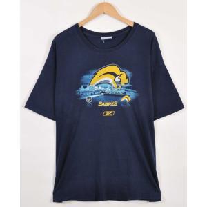 ビッグTシャツ Reebok リーボック NHL バッファロー・セイバーズ 半袖Tシャツ メンズXL相当(21343|penguintripper
