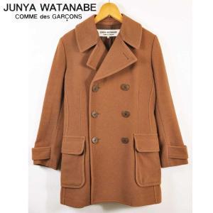 ジュンヤワタナベ コム・デ・ギャルソン トレンチコートスタイル ウールコート ブラウン レディースS相当 penguintripper