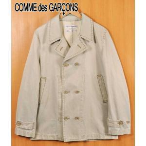フランス製 コム・デ・ギャルソン シャツ ダブルフロント スプリングコート ハードウォッシュドオーカー メンズS penguintripper