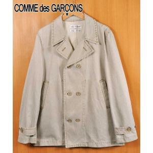 コム・デ・ギャルソン シャツ ダブルフロント スプリングコート ハードウォッシュドオーカー メンズM penguintripper