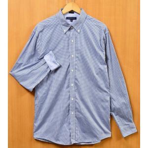 トミーヒルフィガー 長袖シャツ コットン ボタンダウン ブルー×ホワイト チェック柄 メンズL相当(24585|penguintripper