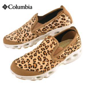 新品 Columbia コロンビア Drainmaker Slip Lux Safari ドレインメーカー lux サファリ アウトドアスリッポン 豹柄|penguintripper
